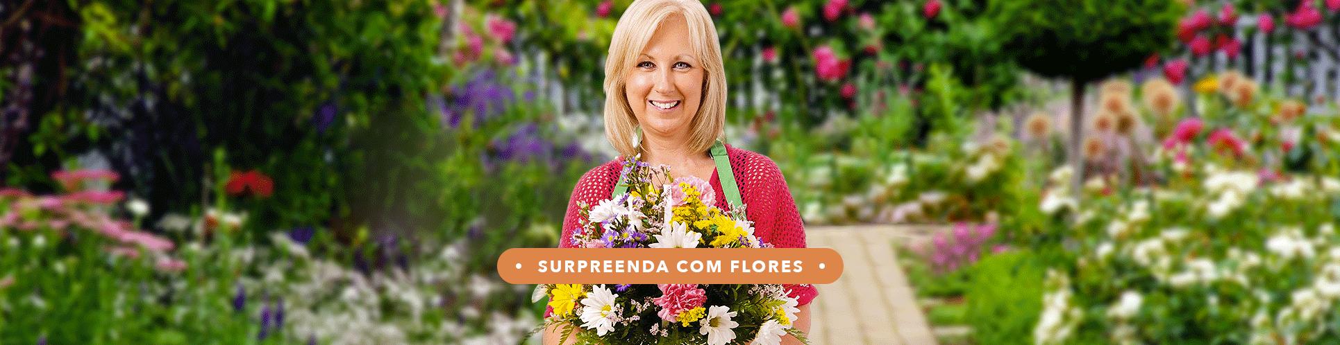 Surpreenda com flores