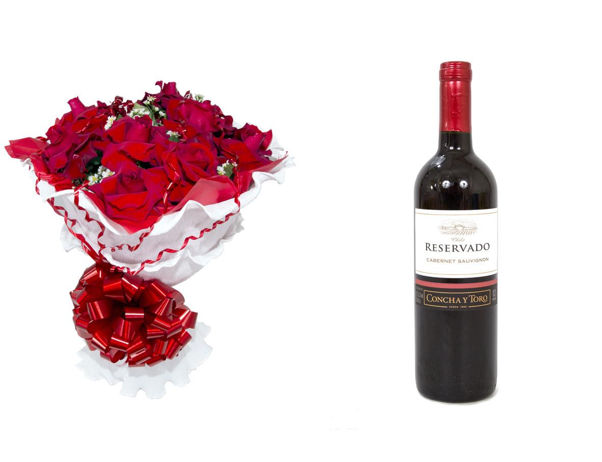 Encanto de Colombianas Vermelho + Vinho Concha Y Toro