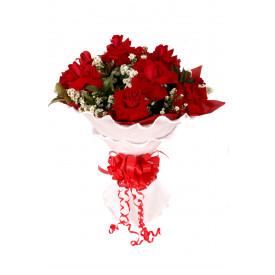 Buquê de Flores Encanto de colombianas vermelhas