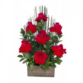 Arranjo de Flores Affetto di fiori vermelho