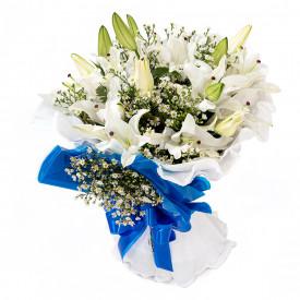 Buquê de Flores Encanto de Lírio branco