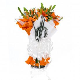 Buquê de Flores Encanto de Lírio laranja