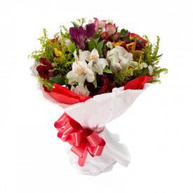 Buquê de Flores Fagulha de Astromélias