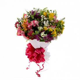 Buquê de Flores Buquê de flores Encanto de Astromélias