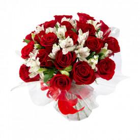 Buquê de flores ESPECIAL de rosas vermelhas