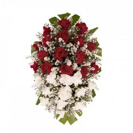 Coroa Funerária Pequena de Rosas