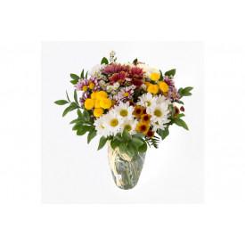 Buquê de flores ESPECIAL campestre no vidro