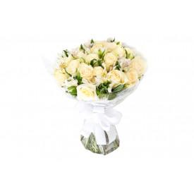 Buquê de flores ESPECIAL de rosas brancas