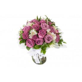 Buquê de flores ESPECIAL de rosas lilás