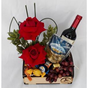 Bandeja Delicadeza e Vinho