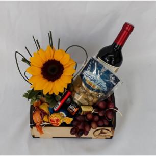 Bandeja girassol e vinho