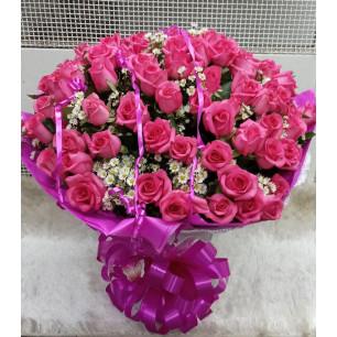 Especial - Arranjo com 80 Rosas Pink