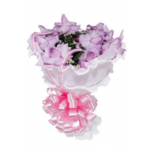 Buquê de Flores Encanto de colombianas lilás