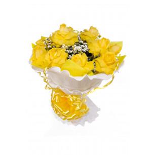 Buquê de Flores Encanto de colombianas amarelas