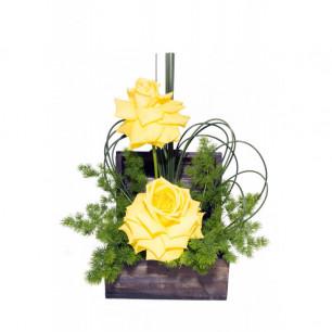 Arranjo de Flores Delicadeza e alegria