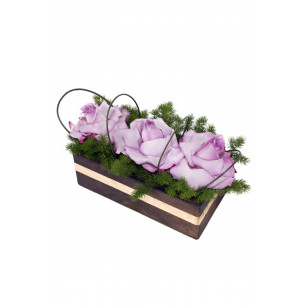 Arranjo de Flores Jardim de rosas lilás
