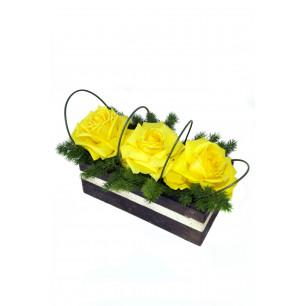 Arranjo de Flores Jardim de rosas amarelas