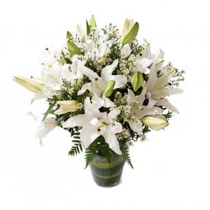 Buquê de Flores Alegria de Lírio branco