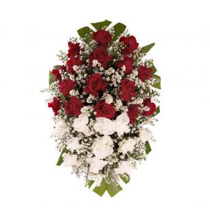Coroa Funerária Grande de Rosas