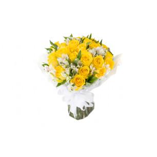 Buquê de Flores Especial  de Rosas Amarelas
